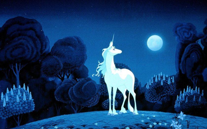 Einhorn im Mondlicht